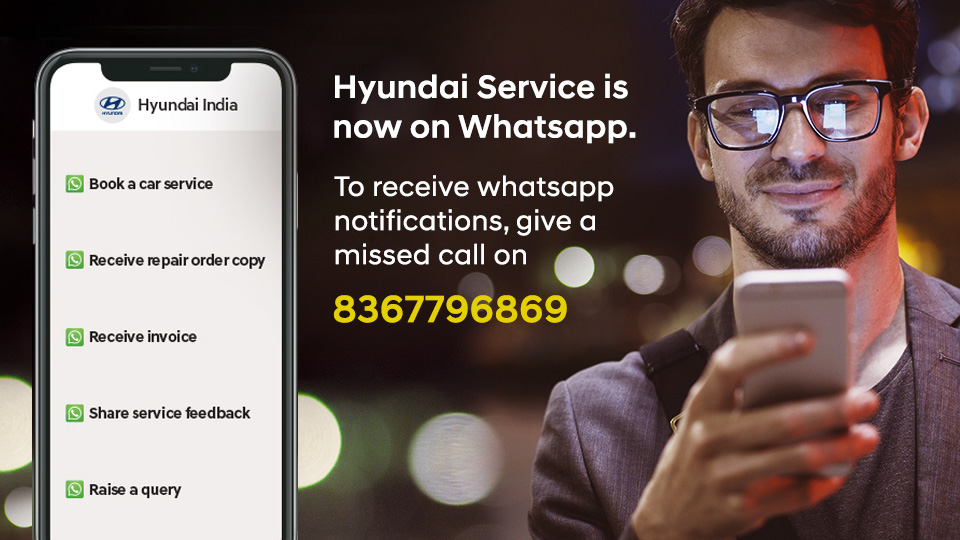 Hyundai service on Whatsapp